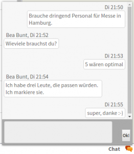 Teamchat in der Filiale