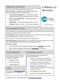 Leitfaden für Bewerber - Cheat Sheet auf A4