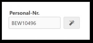 Bewerber Personalnummer automatisch