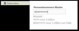Bewerber Personalnummer automatisch Muster